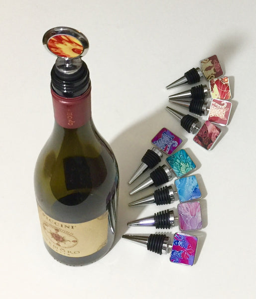 Blue Butterfly Bottle Stopper - Gift for Him or Her - Bottle Bung Deep Blues