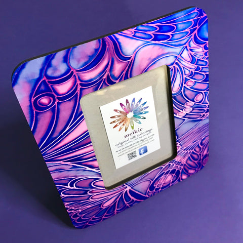 Purple Blue Butterfly Photo Frame
