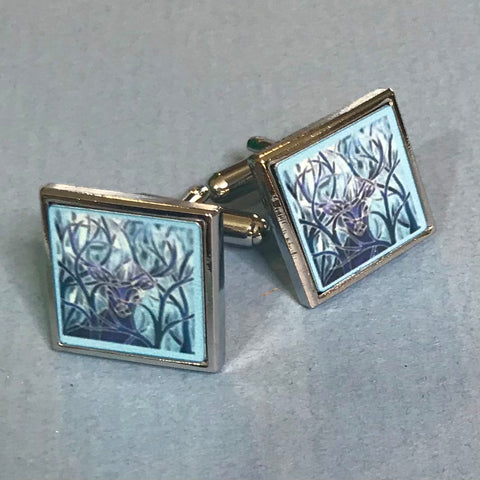 Majestic Stag Cuff Links Cool Blue - Gift for Him
