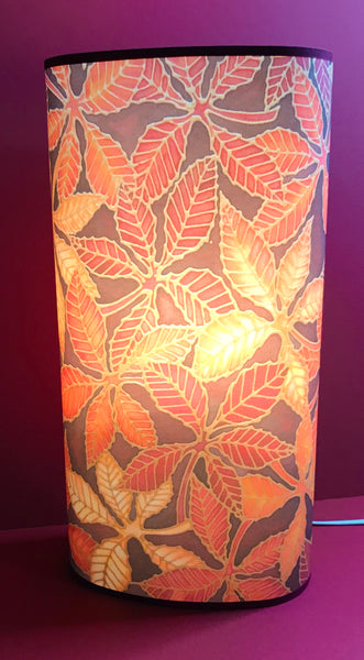 Rich Warm Beech Leaves Floor or Table lamp - Welcoming Art Lamplight - Free Standing Lamp