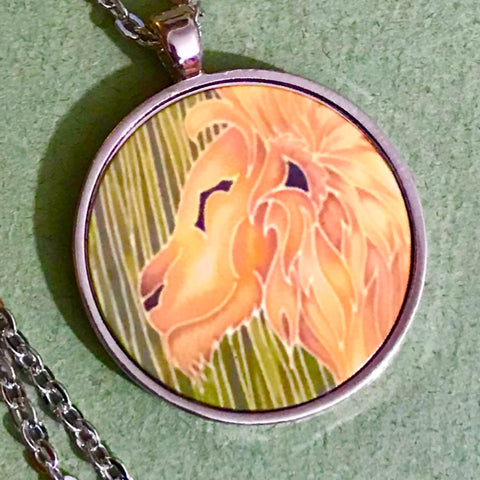 Golden Lion Pendant - Majestic Lion Necklace - Affordable gift