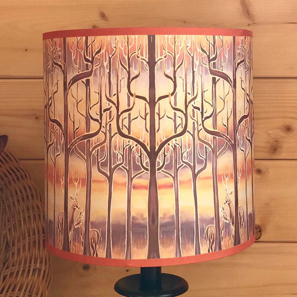 Caramel trees lampshade - made to order lampshade