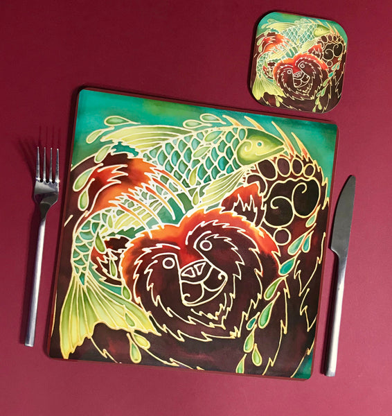 Golden Ram Square Table Mats & Coasters - Wildlife Table Mats
