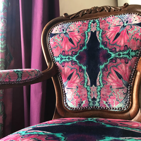 Designer Butterfly Antique Chair Upholstery Bespoke Upholstery for Antiques