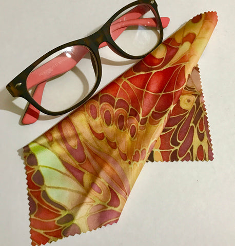 Red Butterfly Glasses Cleaning Cloth - Phone screen Clean - Microfibre Screen Cleaner
