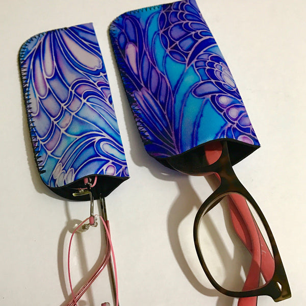 Blue Glasses Cases - Butterfly Glasses Covers - Soft Glasses Covers - Great Gift