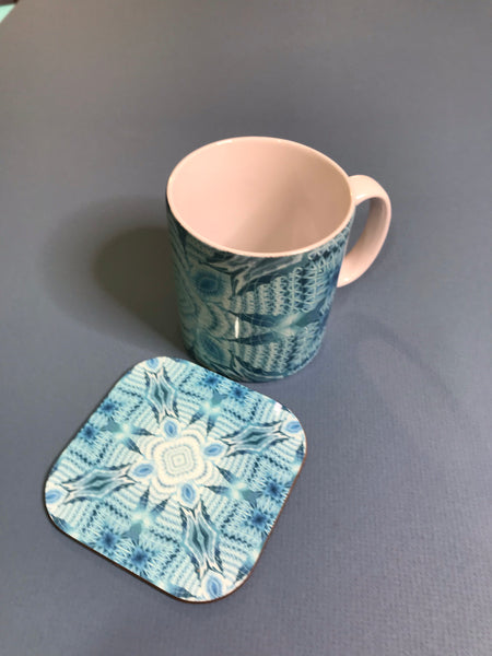Intricate patterned Mug and coaster box set or Mug only - Colourful Mug Set - Patterned Mug Gift