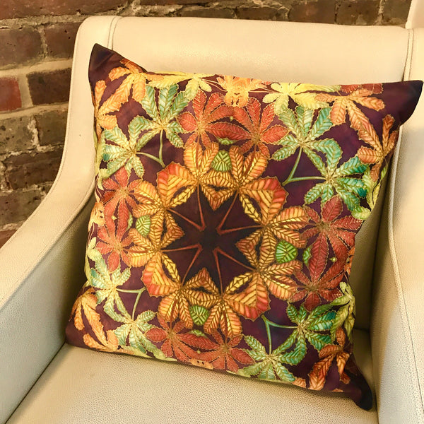 Lush Velvet Cushions - Green terracotta cushions - Autumnal Cushions by meikie