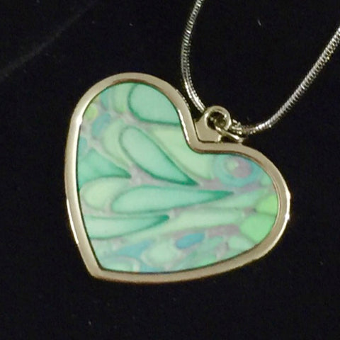 Pretty Green Butterfly Necklace - Circle or Heart Necklace - Affordable gift