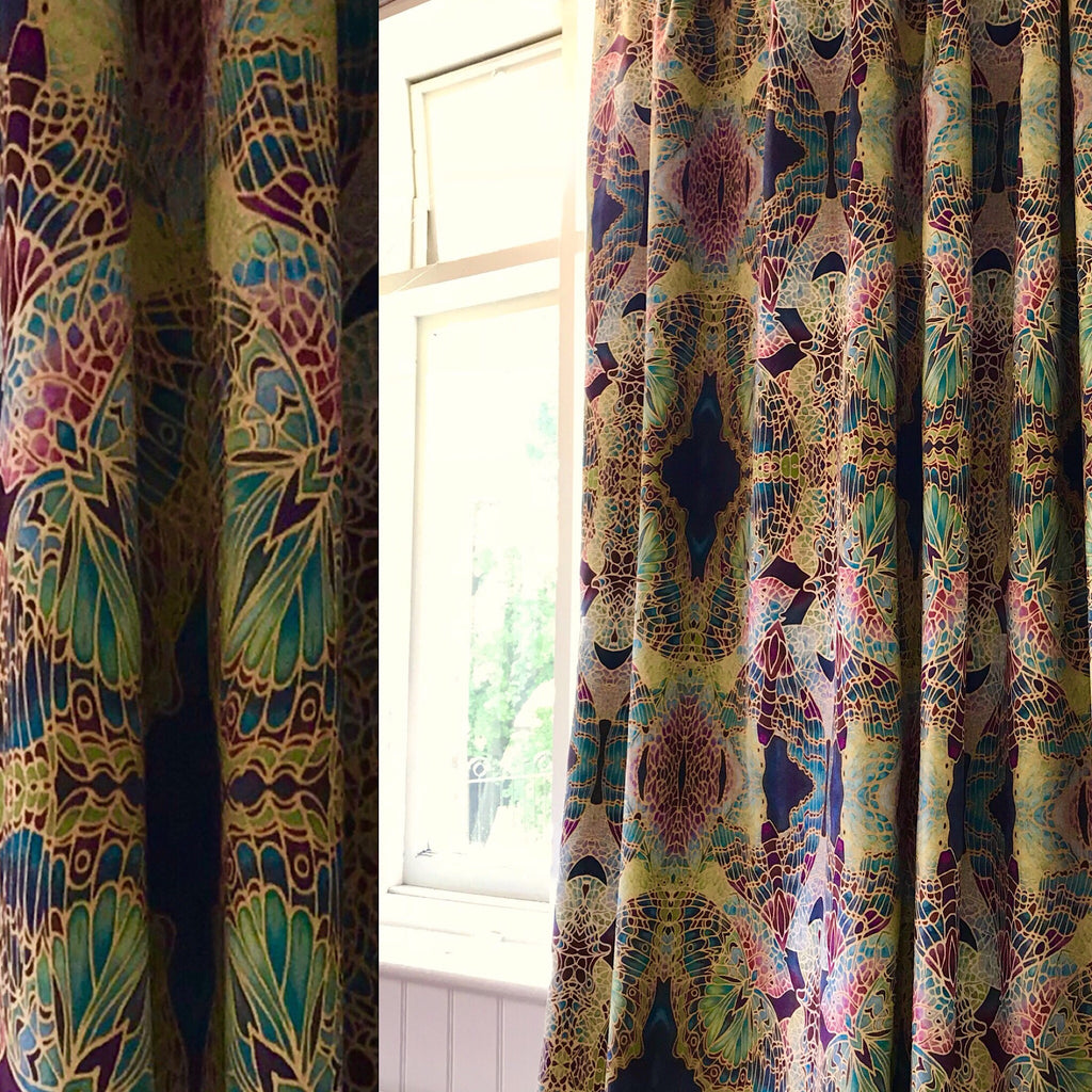 Velvet Butterfly Curtains - Made to Order Curtains - Bespoke Designer Fabrics