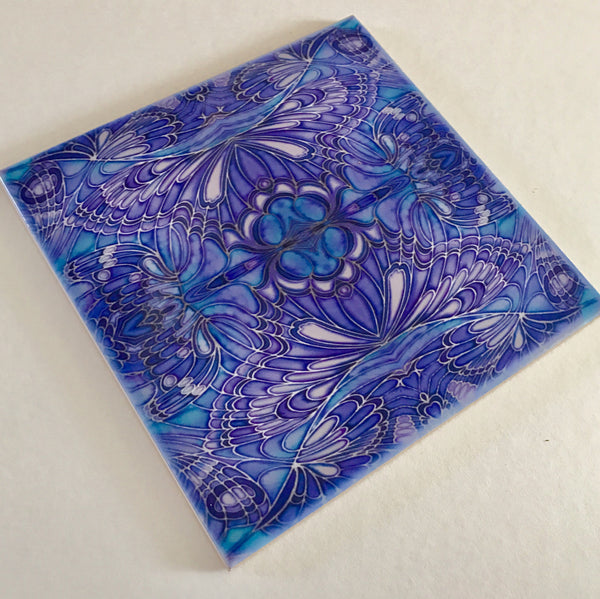 Bohemian Kaleidoscope Mixed Tile Set Blue Green Purple Tiles - Beautiful Tile - Bohemian Tiles