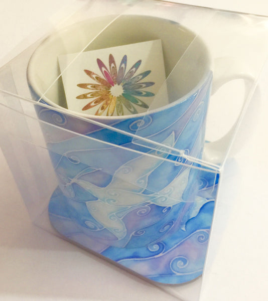 Dove Mug and Coaster Box Set - Great Gift - Peace Gift