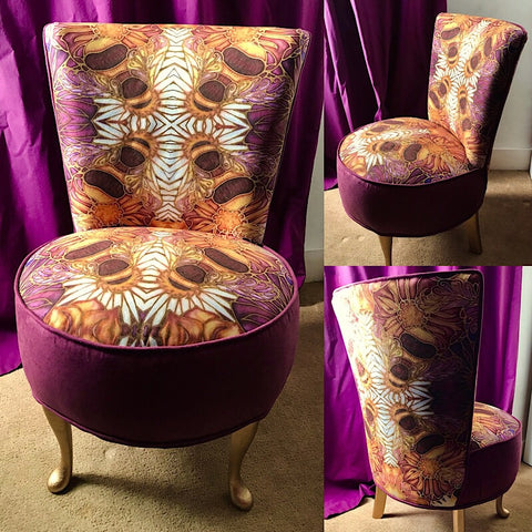 Bespoke fabric designed especially for this small chair.