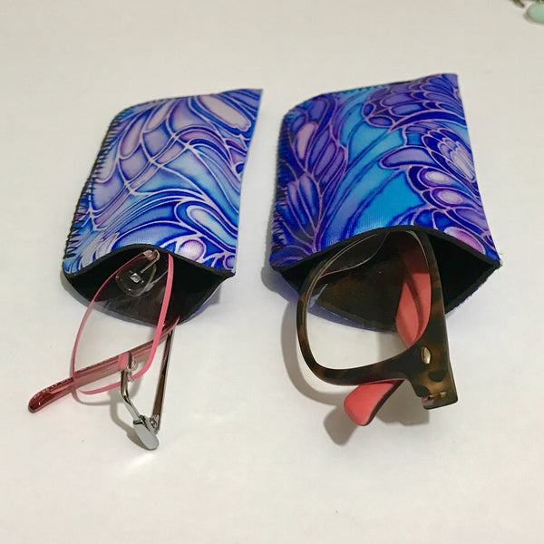 Trees padded cover for glasses - sunglasses case - Reading or Large Glasses Case
