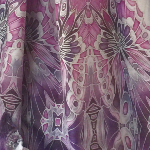 Chenille Butterfly Made to Order Curtains. Bespoke Designer Fabrics
