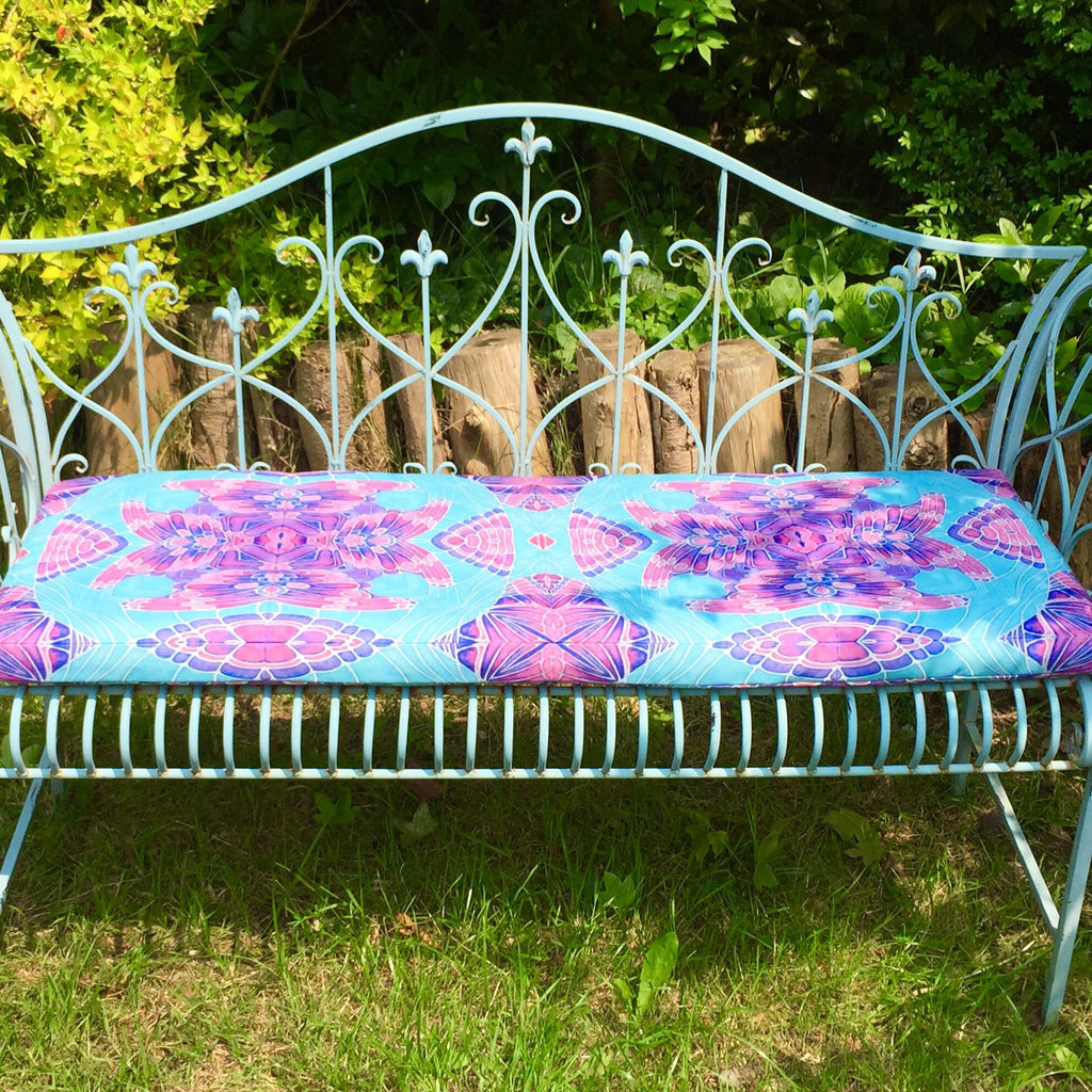 Butterfly garden bench seat made to order chair seat pretty shower meikie designs - Made to measure bench seating ...