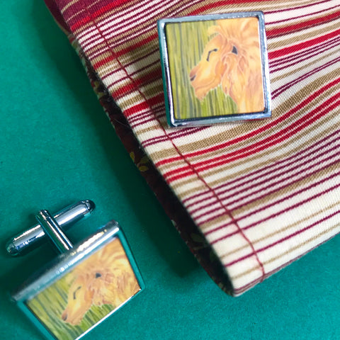 Smiling Lion Cuff Links - Gift for Him