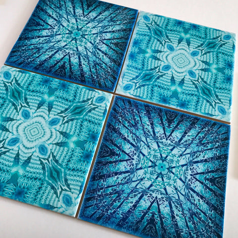 Contemporary Tiles mixed Teals - Mint Blue Green Tiles - Beautiful Tile