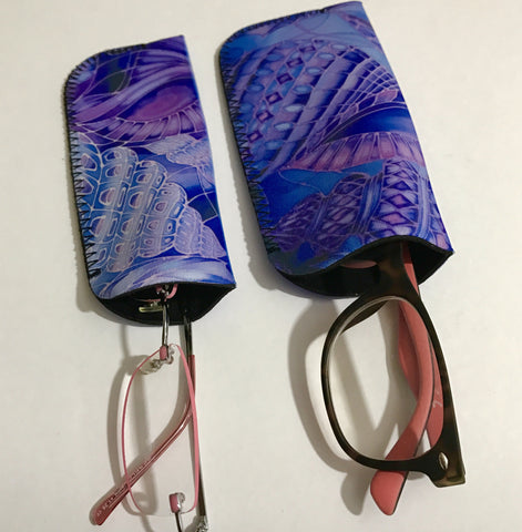 Reading glasses Cover - Sunglasses Pouch - Blue Glasses Case