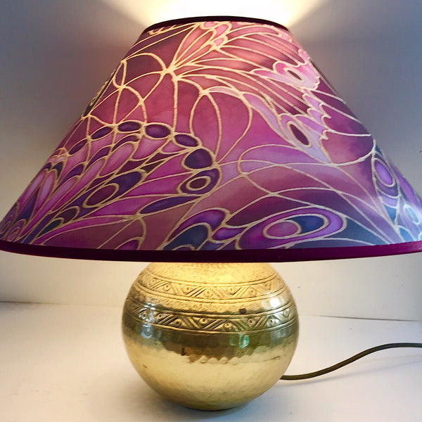 bespoke plum butterfly lampshade - made to order lampshade