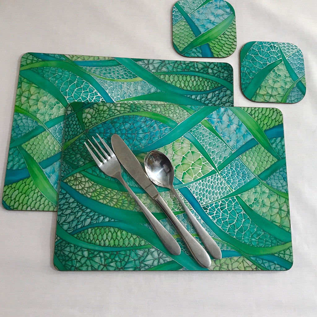 table mats and coasters. tableware green placemats \u0026 coasters - turquoise table mats glass chopping boards / counter and c