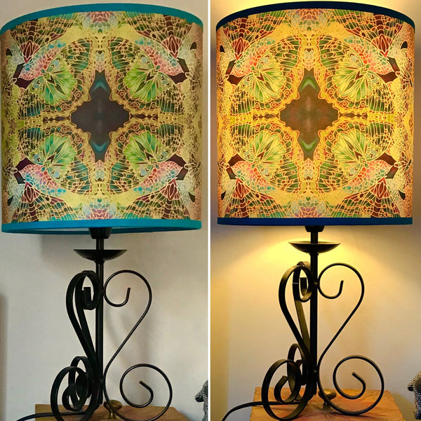 Butterfly Lamp shade - Butterfly Drum Shade - Atmospheric lamp Shade