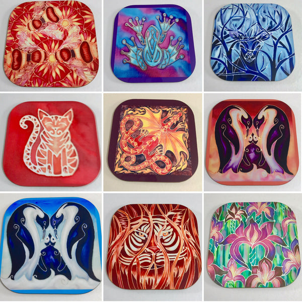 Dramatic Dragons Coaster - Mythical Beasts Lovers Gift - Red Dragon Coaster