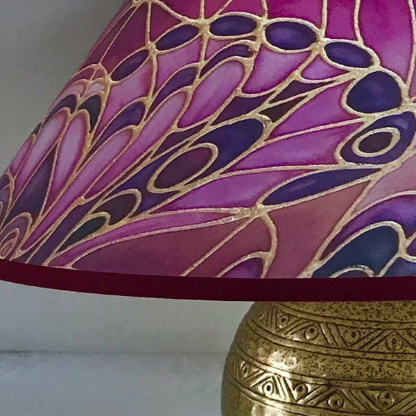 Butterfly Wings Lamp Shade - rich plum Pendant Shade - Atmospheric lamp Shade