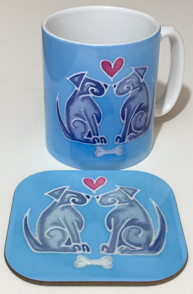 Cute Dog Lovers Gift - Dog Mug and Coaster Box Set -Meikie Designs