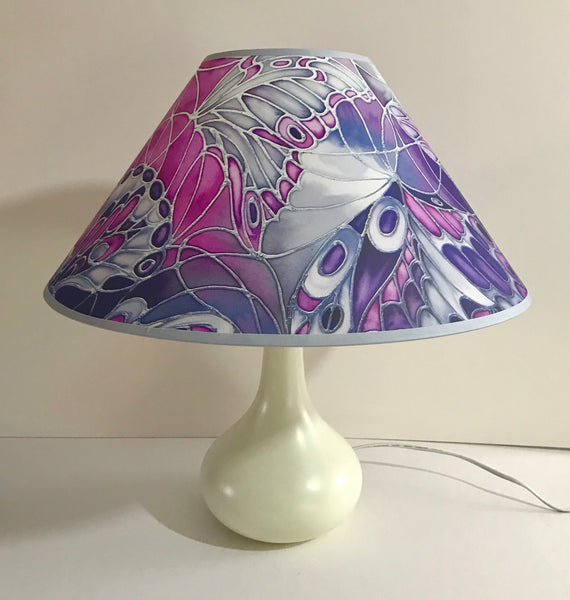 Butterfly Wings Lamp Shade - pink purple black white Pendant Shade - Atmospheric lamp Shade