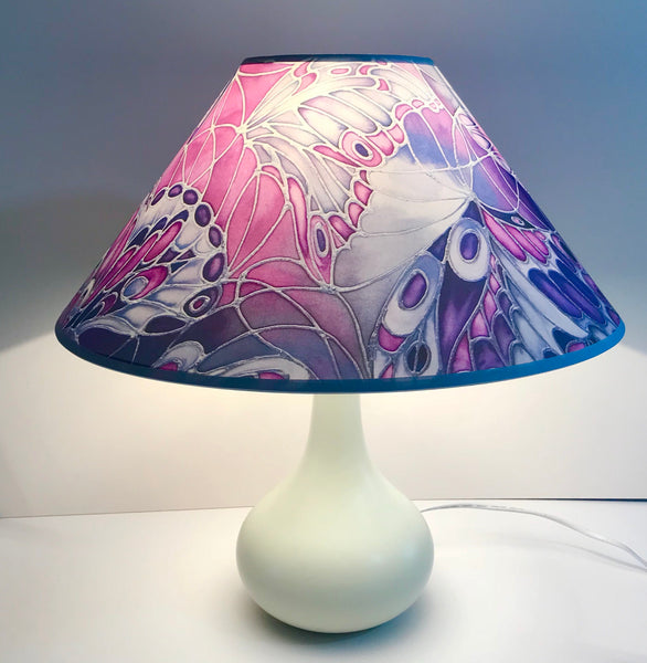 Contemporary butterfly lamp shade - purple butterfly Lamp shade - art lamp shade