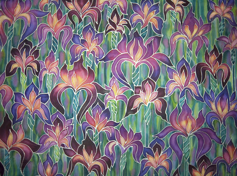 Purple Irises Print - Art Print - Living room art