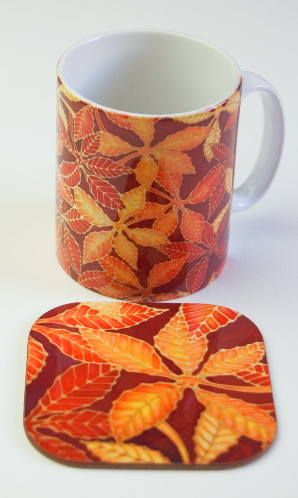 Beech Leaves Mug - Autumn Leaves Mug box set - meikie designs