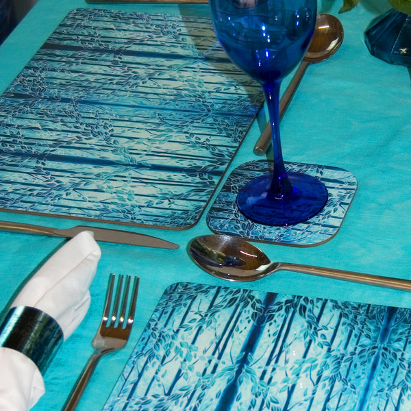 Teal Green Blue Glass Chopping Boards Tableware - Woods Placemats & Coasters - High Quality Table Mats - Teal Green Blue Glass Chopping Boards Tableware