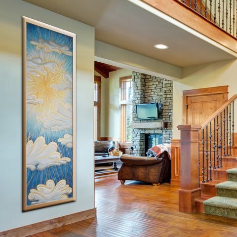 Large Sun painting for hallways and stairwells