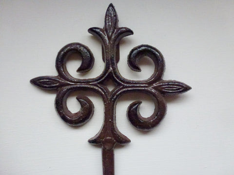 Rustic Large Cast Iron Hat / Coat Hook