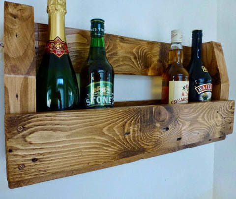 Handmade Upcycled Rustic Wine Rack