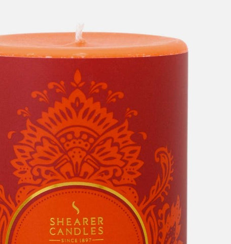 Shearer Orange Pomander Scented Pillar Candle