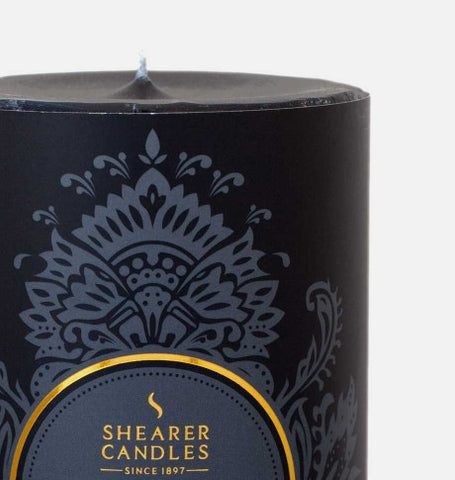 Shearer Amber Noir Pillar Candle