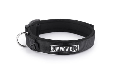 BLACK IS BACK NEOPRENE DOG COLLAR