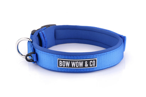 TRUE BLUE NEOPRENE DOG COLLAR