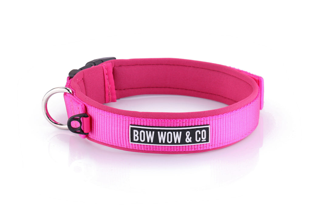 PRETTY IN PINK NEOPRENE DOG COLLAR