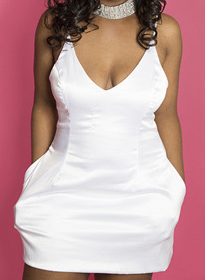 White Satin RiRi dress
