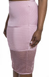 Rose dust netted skirt