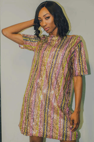 Glitz and Glam T-shirt Dress