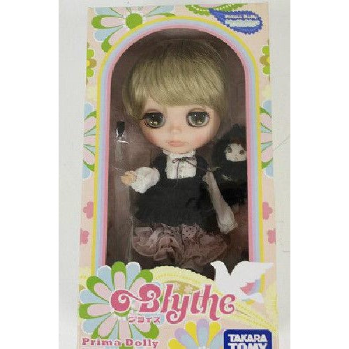 Blythe ooak custom doll Blond short hair Black dress Japan One of a kind