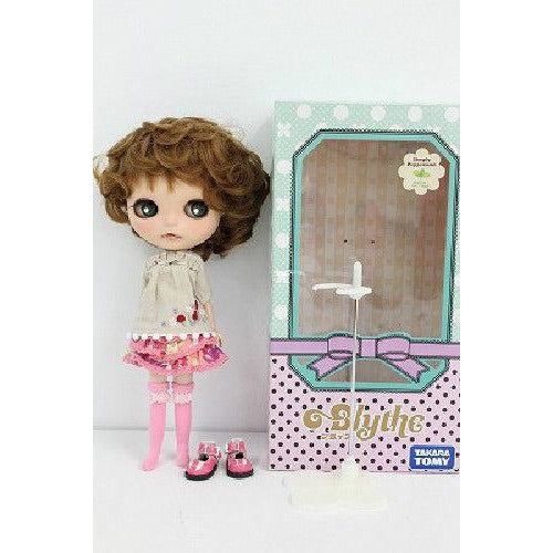 Blythe ooak custom doll Brown Short Curl Hair  One of a kind