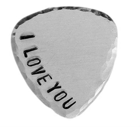 Custom Guitar Pick - Customize your own Guitar Pick - Weathered Finish - Hand Trades