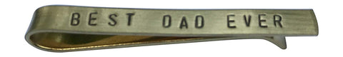Hand Trades Best DAD Ever Tie Clip - Brass-Gifts for dad Father of The Bride-Stepdad