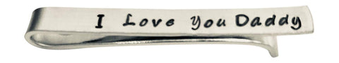 Hand Trades I Love You Daddy Tie Clip Gifts for dad tie bar Father's Day Father of The Bride Stepdad